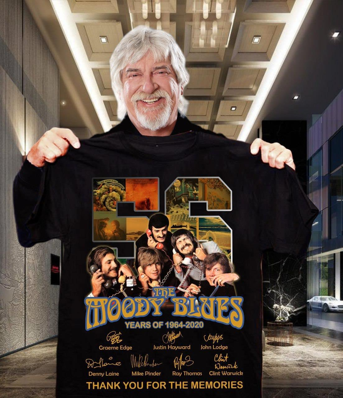 56 Years Of The MoodyBlues Signature And Thank You For The Memories Shirt