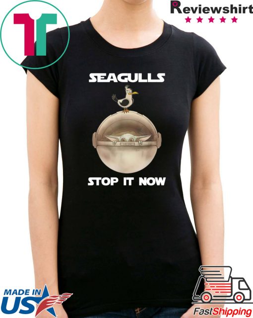 Baby Yoda Seagulls Stop It Now Christmas 2020 Shirt