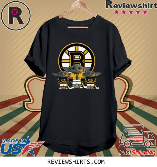 Boston Bruins Logo Baby Yoda Shirt
