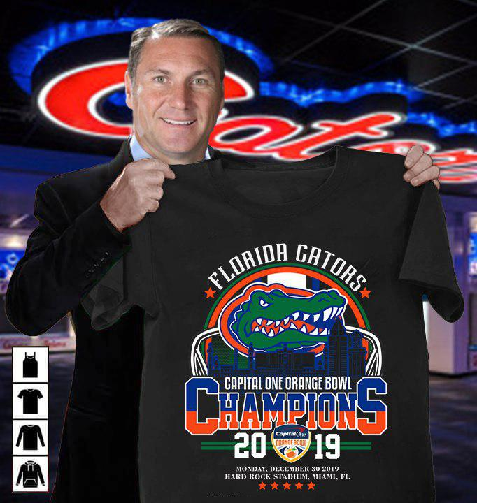 Florida Cators Capital One Orange Bowl Champions 2019 Shirt