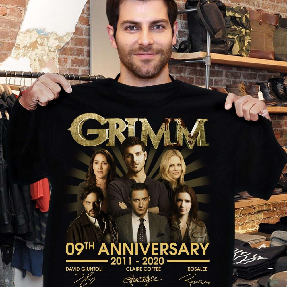 Grimm 09th Anniversary 2011 - 2020 Members Signature And Thank You For The Memories Shirt