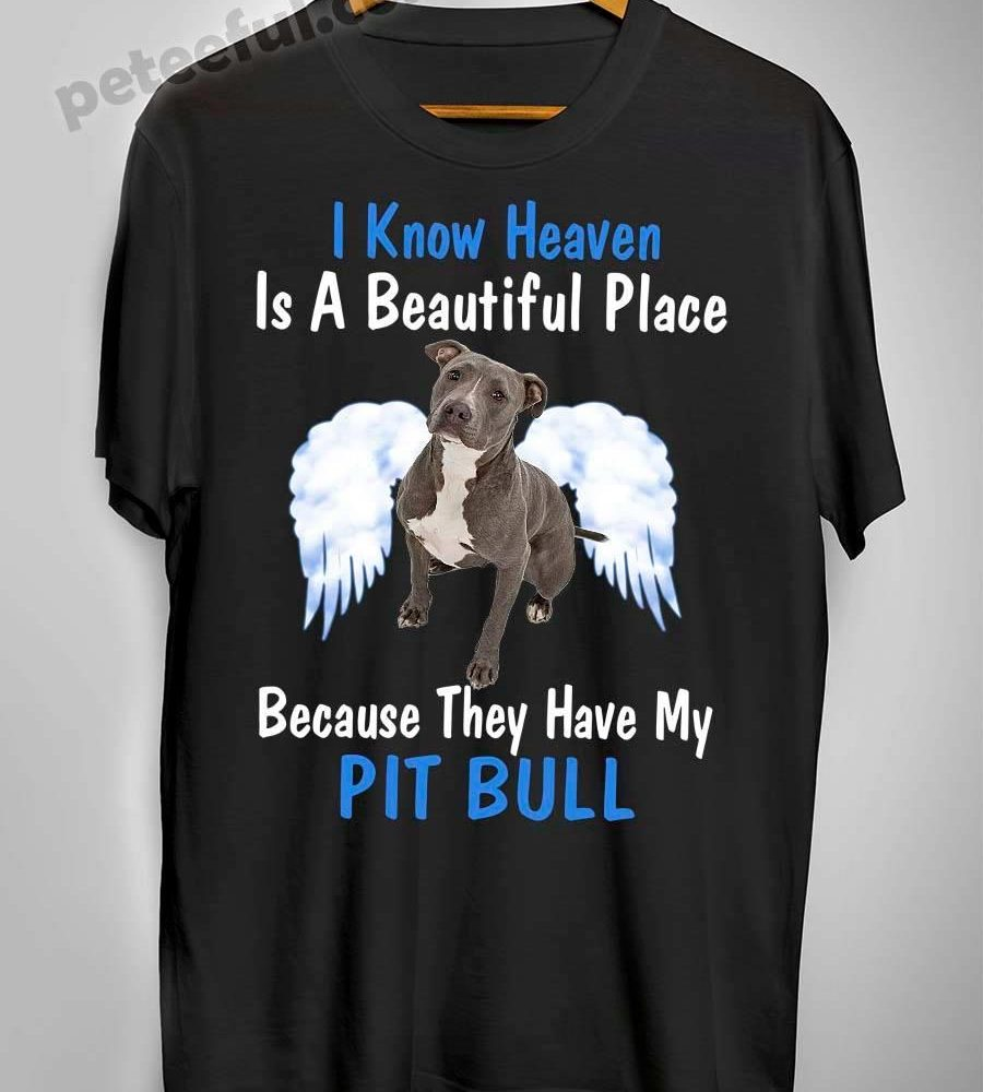 I Know Heaven Is A Beautiful Place Because They Have My Pit Bull Shirt