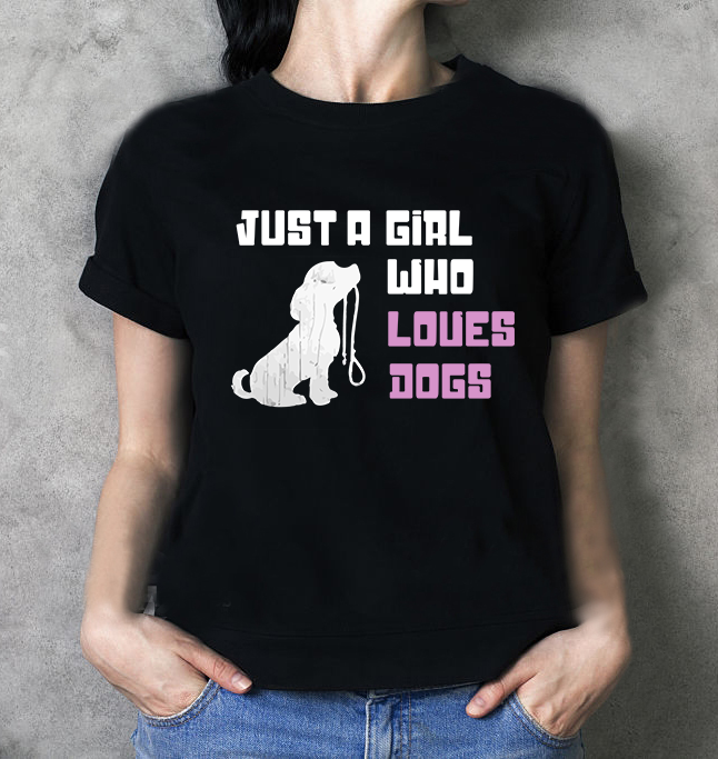 Just A Girl Who Loues Dogs Shirt