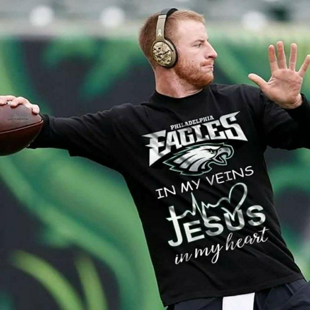 Philadelphia Eagles In My Veins Jesus In My Heart Shirt