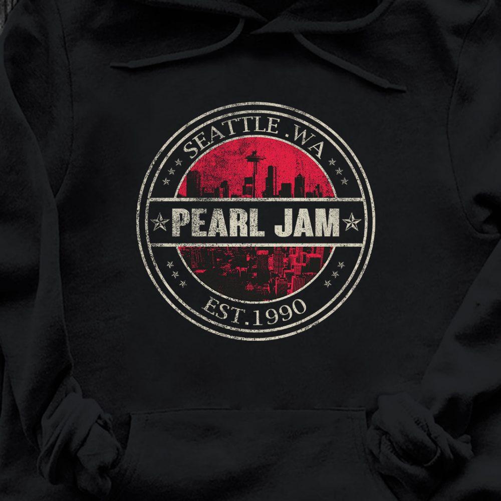 Seattle Wa Pearl Jam Est 1990 Shirt