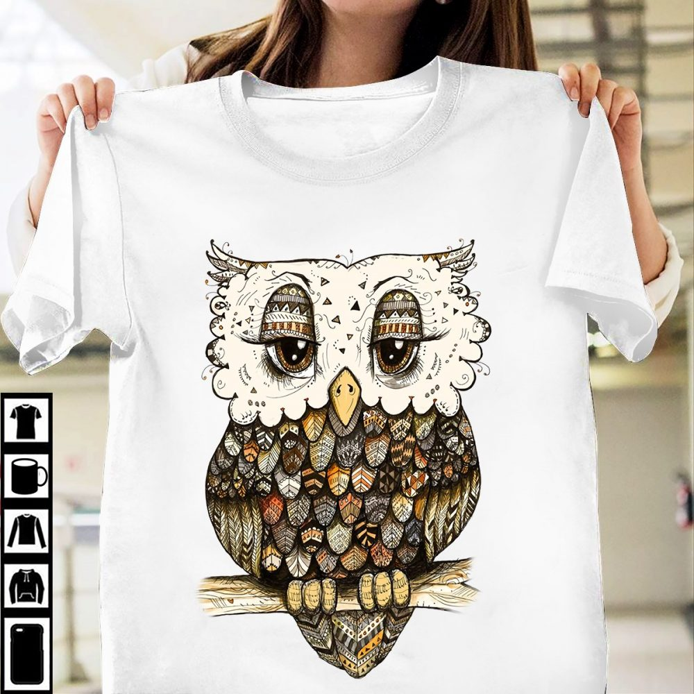 The Owl Lover And Merry Christmas Shirt